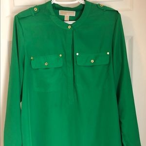 REDUCED Authentic Michael Kors Green Blouse